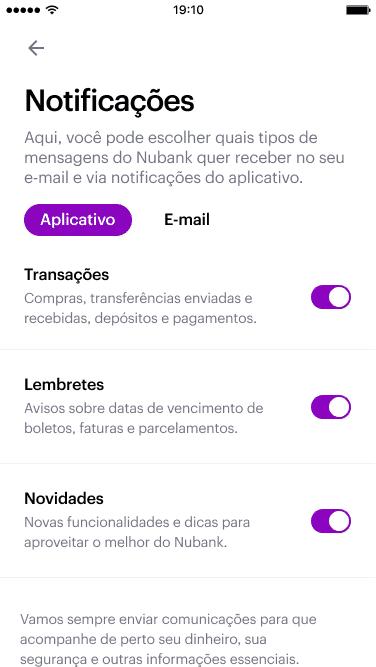 Notification Preferences screen