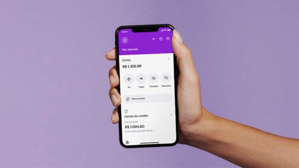 nubank novo visual app